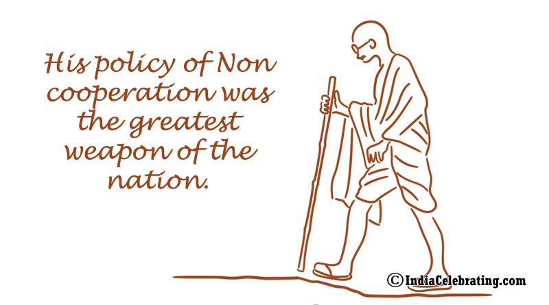 Mahatma Gandhi Policy of Non Cooperation