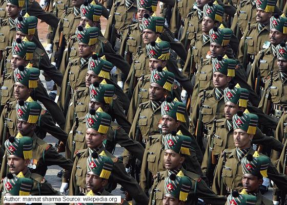 Republic Day Parade of Indian Army Madras Regiment