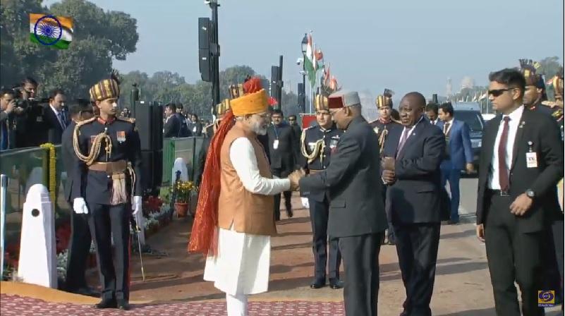 Arrival of President