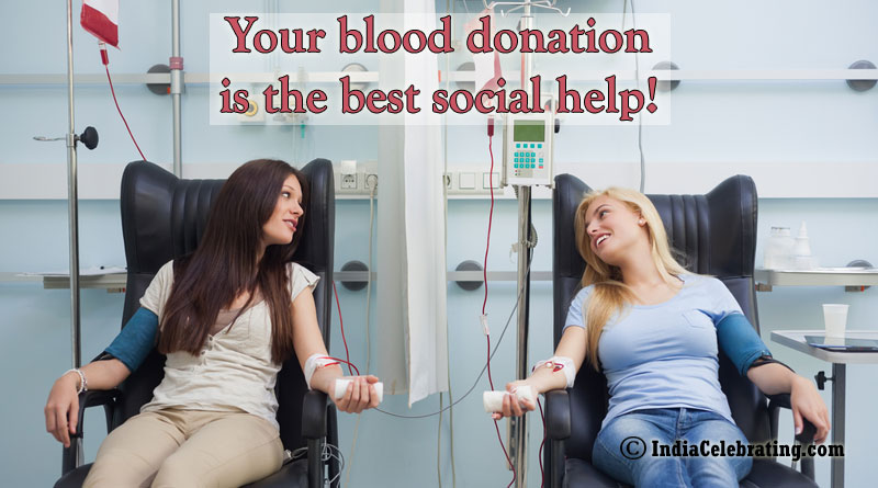 Your blood donation is the best social help!