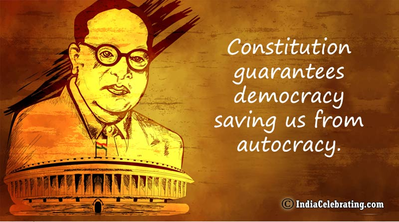 Constitution guarantees democracy saving us from autocracy.