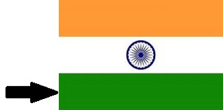 Green Colour of Indian Flag