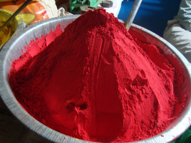 Red color to play Holi