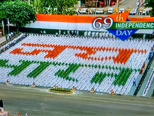 School Students celebrating Independence day