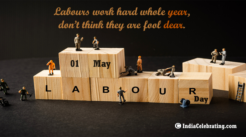 Labours work hard whole year, don't think they are fool dear.