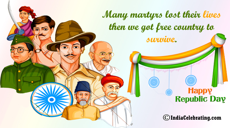 Many martyrs lost their lives then we got free country to survive.