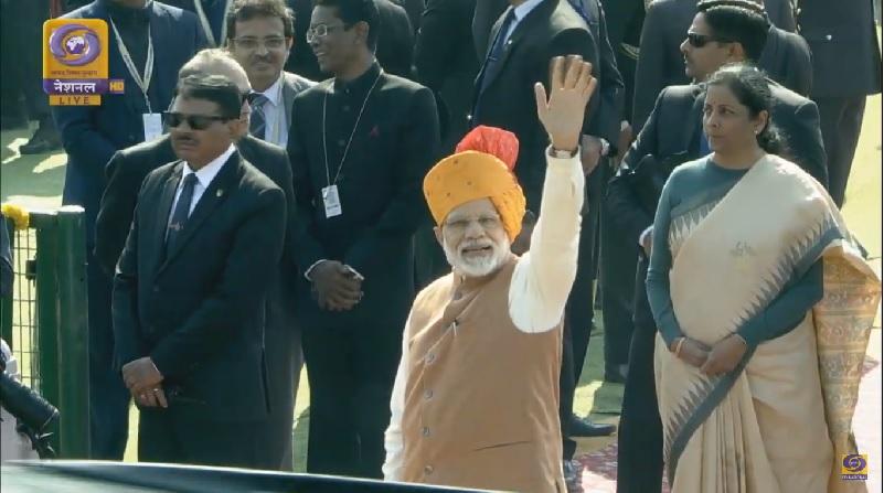 Modi Waving Hand