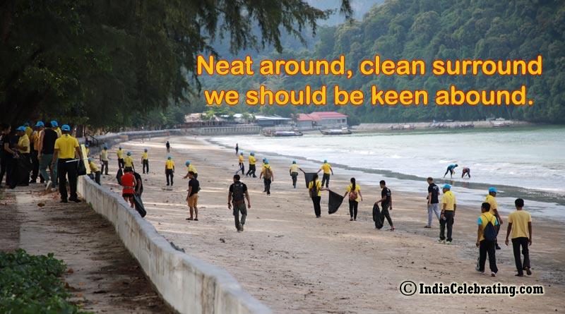 Neat around, clean surround we should be keen abound.