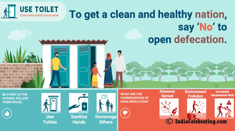To get a clean and healthy nation, say 'No' to open defecation.