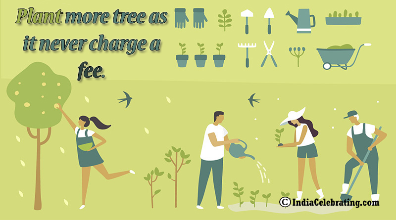 Plant more tree as it never charge a fee.