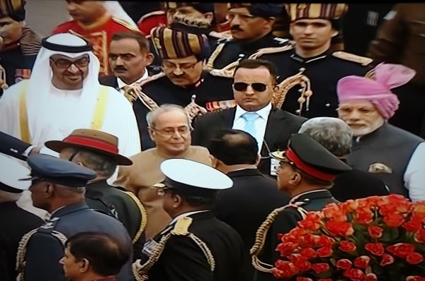 PM with Indian President and Abu Dhabi Prince