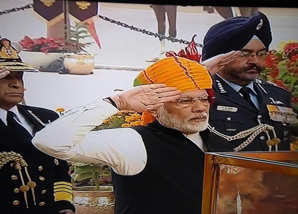 prime minister tribute at amar jawan jyoti