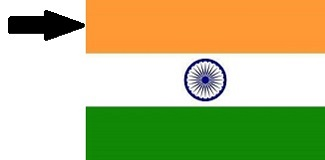 Saffron Colour of Indian Flag
