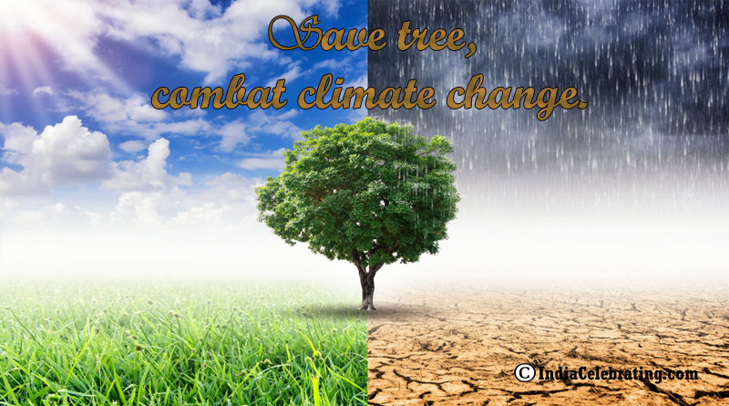 Save tree, combat climate change.