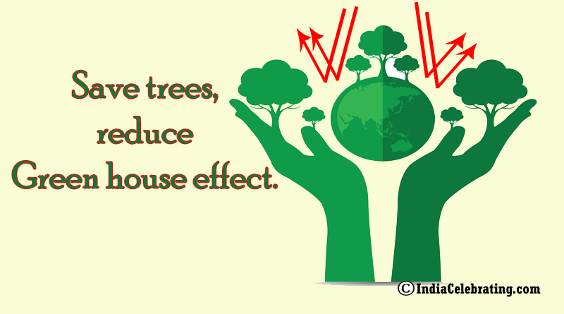 Save trees, reduce green house effect.