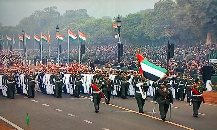 UAE Contingent at Rajpath