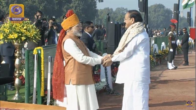 Vice President Arrives at Rajpath