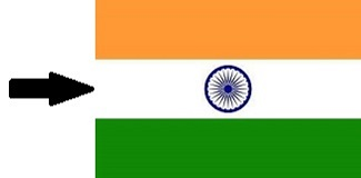 White Colour of Indian Flag