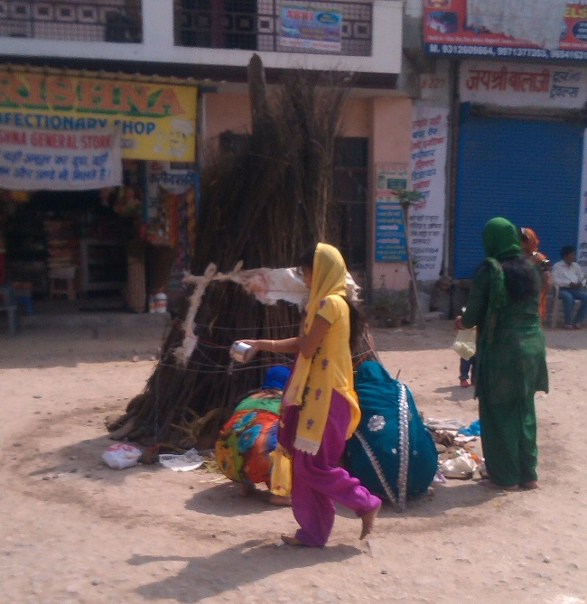 Women worshiping Holika